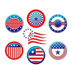 American national banners and symbols vector image vector image
