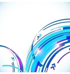 Blue abstract futuristic curve background vector image vector image
