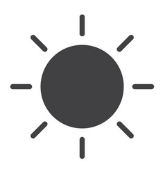 brightness glyph icon web and mobile sun sign vector image