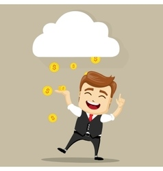 business man smile vector image