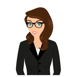 Businesswoman close-up vector image vector image