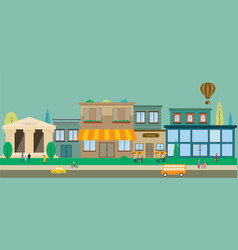 city streets in flat design vector image vector image