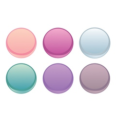 Colorful web buttons isolated on white set vector image