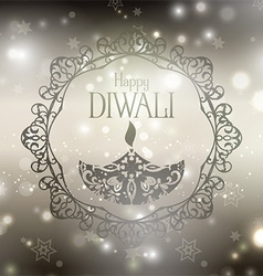 decorative diwali background 2109 vector image vector image