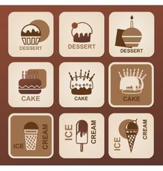 Food icons set symbols vector image vector image