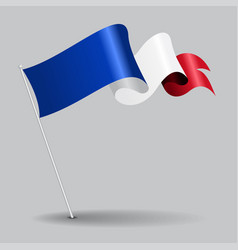 French pin wavy flag vector