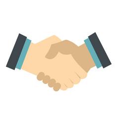 Handshake icon isolated vector