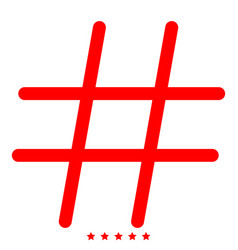 Hashtag icon different color vector