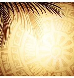 Mayan petroglyph vector