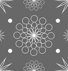 Seamless abstract stars on dark grey vector