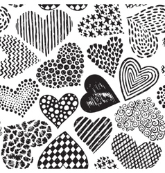 Seamless pattern in with hand drawn sketch vector