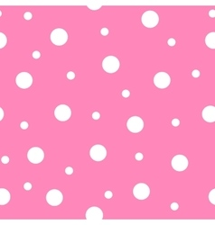 Seamless pattern with polka dots vector image vector image