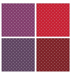 Seamless white polka dots background set vector