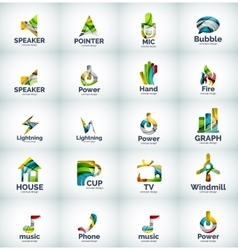 set of internet logo icons vector image