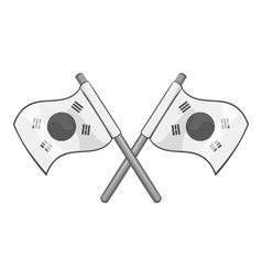 South Korea flags icon gray monochrome style vector image
