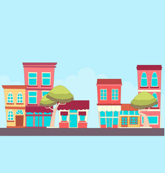street small town vector image vector image