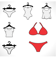 swimsuits or bikini icon vector image