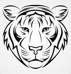 Tribal Tiger Head vector image