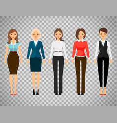 women in office dress code clothes vector image