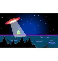 Alien to go ship vector image