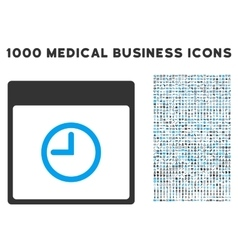 Time calendar page icon with 1000 medical business vector