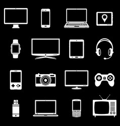 Abstract set of digital devices and vector