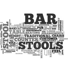 Bar stools a buyers guide text word cloud concept vector