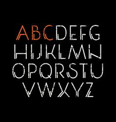 Decorative sanserif font vector