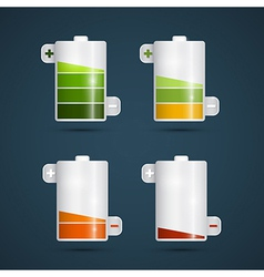 Battery life symbols set vector