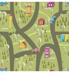 Cartoon map seamless pattern vector