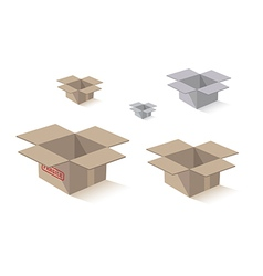 Shipping packing box vector