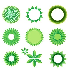 Leaf art green concept vector