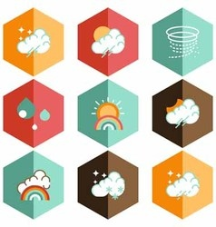 Icon weather forecast vector