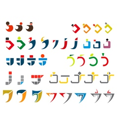 j alphabet symbols vector image