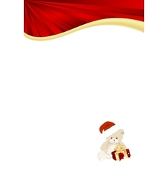 Christmas red template vector