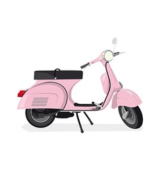 Pink scooter vector