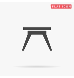 Camping table simple flat icon vector
