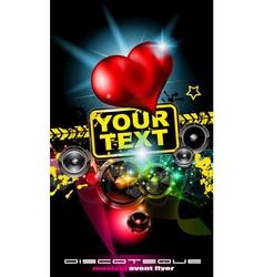 Love disco poster vector