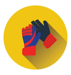 Icon of football goalkeeper gloves vector