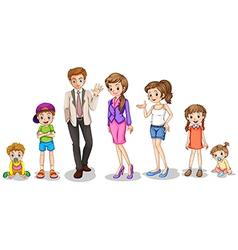 A big family vector image