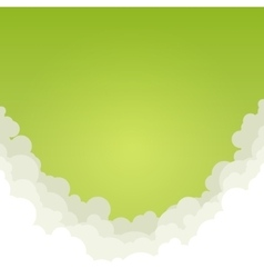 Abstract Green Background with Clouds vector image