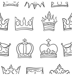 Art crown sketch pattern vector