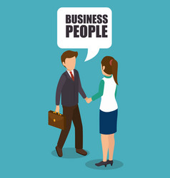 bubusiness people isometrics desig vector image
