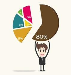 businessman holding to chart of profit vector image