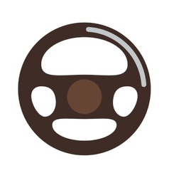 Car rudder wheel vector image