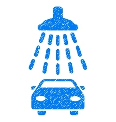 Car shower grainy texture icon vector