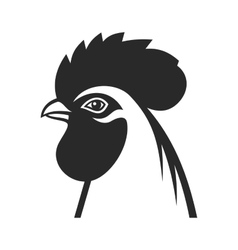 Cock Icon Sign Rooster 2017 Year Symbol vector image
