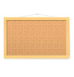 Corkboard realistic blank corkboard with vector