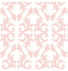 Damask luxury floral pattern vector
