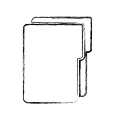 Documents folder isolated icon vector